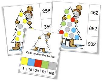 Image de Cartes à pinces : numération des nombres de 0 à 999