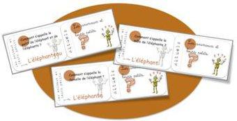 Image de Cartes rituels vocabulaire: les animaux et leurs petits