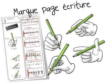 Image de Marque-pages « Ecriture cursive »