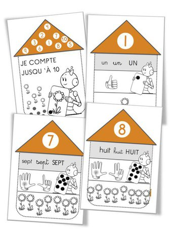 Image de Numération CP : Cahier répertoire des nombres de 1 à 10