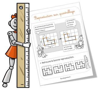 Image de Leçon géométrie : la reproduction sur quadrillage
