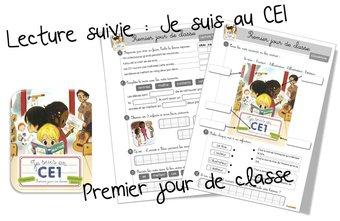 Image de Lecture CE1 : je suis en CE1-Premier jour de classe