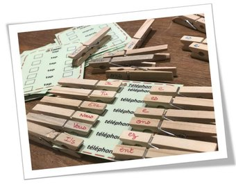Image de Cartes à pinces : conjugaison des verbes en -er