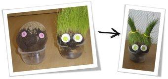 Image de La germination et le Land Art ! …petites têtes de graines