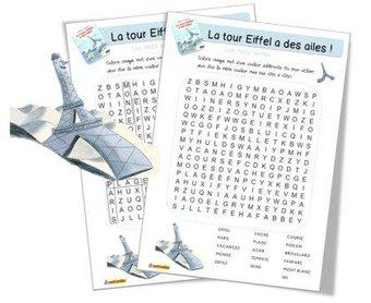 Image de La Tour Eiffel a des ailes : mots mêlés