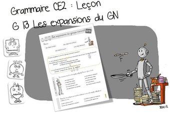 Image de G13 Grammaire CE2 : Les expansions du Groupe nominal