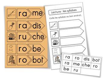 Image de CP : Ateliers et exercice « Associer des syllabes »