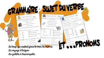 Image de Grammaire: Ex Pronoms personnels et Sujet du verbe