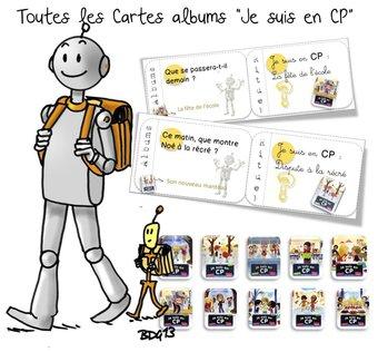 Image de 10 Cartes albums « Je suis en CP » :