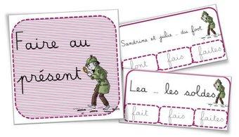 Image de Cartes à pinces et fiches exercices : conjugaison de faire au présent
