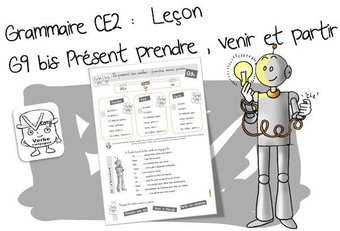 Image de G9 : Conjugaison CE2 : le présent de prendre, venir et partir