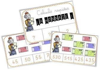 Image de Ateliers Monnaie Cartes à pinces, billets et devinettes