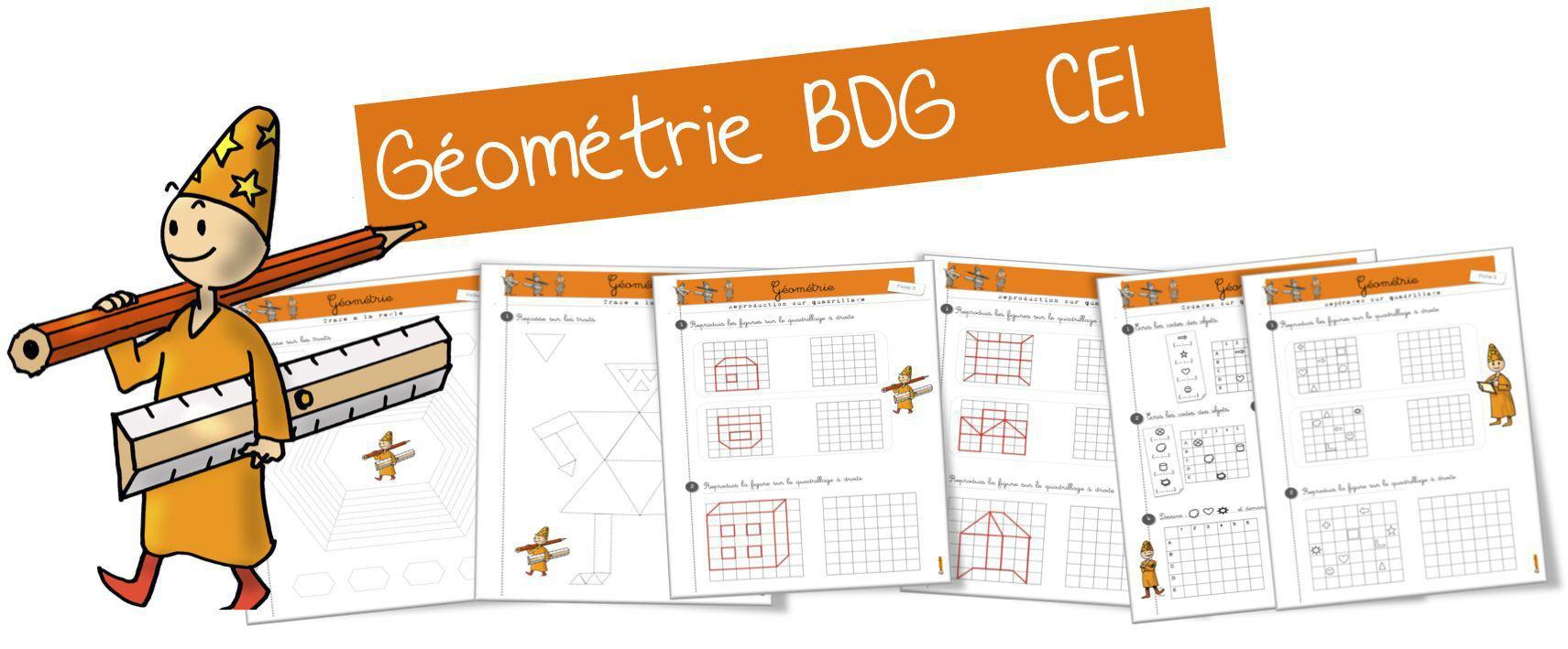 Exercices Geometrie Ce1 A La Bdg Par Bout De Gomme Jenseigne Fr