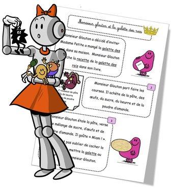 Image de Lecture CP Monsieur Madame : La galette et Monsieur Glouton