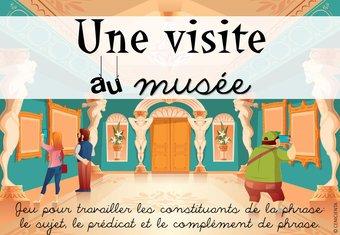 """Image de CM1 • Français • Jeu """"visite au musée"""" (grammaire) -"""