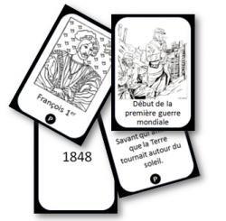 Image de Jeu de cartes pour mémoriser les « repères » d'Histoire.