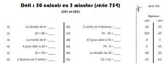 Image de Calcul mental : défi CE