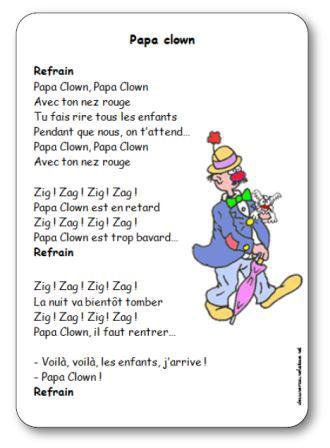 Image de « Papa clown », une chanson de Pierre Lozère