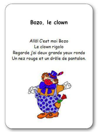 Image de Comptine « Bozo le clown »