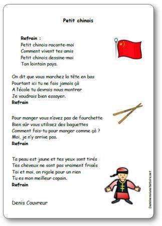 Image de Chanson « Petit chinois » de Denis Couvreur