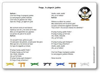 Image de Chanson « Ponga, le pingouin judoka »
