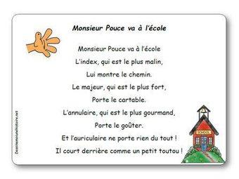 Image de Jeu de doigts « Monsieur Pouce va à l'école »