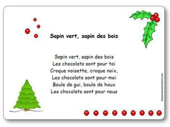 Image de Comptine « Sapin vert, sapin des bois »