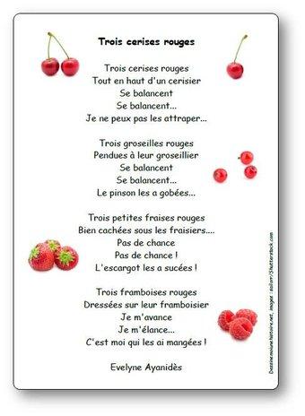 Image de Poésie « Trois cerises rouges » d'Evelyne Ayanidès