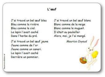 Image de « L'œuf », une poésie de Maurice Coyaud