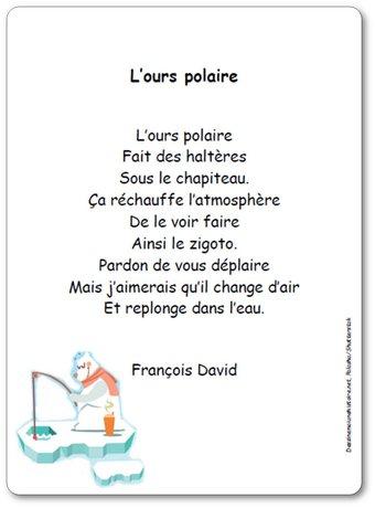 Image de Poésie « L'ours polaire » de François David