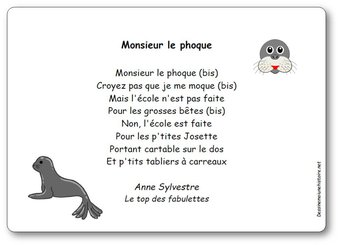 Image de Chanson « Monsieur le phoque » d'Anne Sylvestre