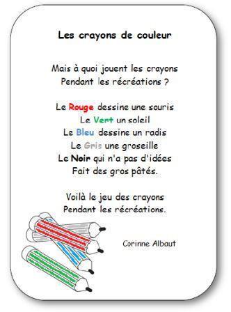 Image de « Les crayons de couleur », un poème de Corinne Albaut