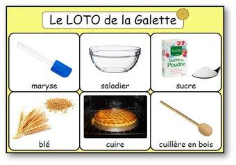Image de Le loto de la recette de la galette des rois