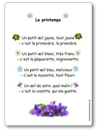 Image de Poésie « Le printemps » (Un petit œil jaune…)