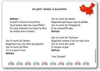 Image de Chanson « Un petit chinois à bicyclette » d'Yves Jacquet