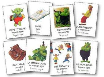 Image de Le petit ogre veut aller à l'école : exploitation pour la moyenne et grande section