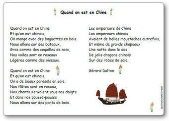 Image de Comptine « Quand on est en Chine » de Gerard Dalton