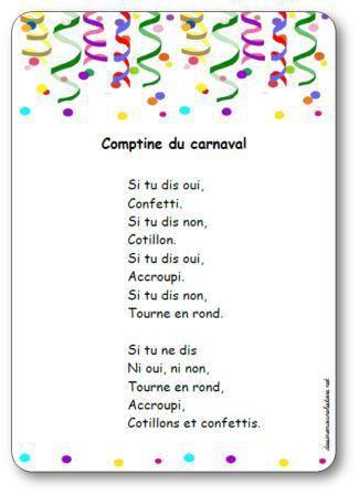Image de « Comptine du carnaval », une comptine de Carl Norac