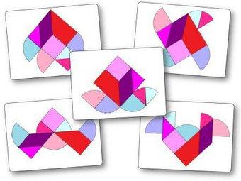 Image de Le tangram cœur : 24 modèles à imprimer