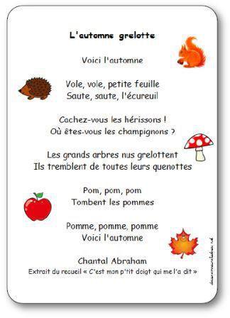 Image de Comptine « L'automne grelotte » de Chantal Abraham