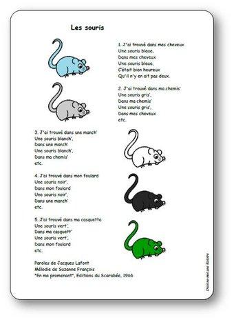 Image de « Les souris », une chanson de Suzanne François et Jacques Lafont