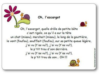 Image de Comptine « Oh, l'escargot »