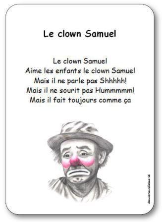 Image de « Le clown Samuel », une comptine de Suzanne Pinel