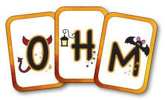 Image de Cartes des lettres de l'alphabet sur le thème d'Halloween
