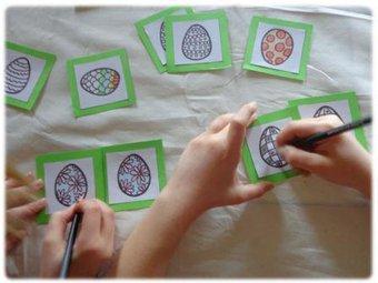 Image de Jeu de mémory de Pâques à fabriquer