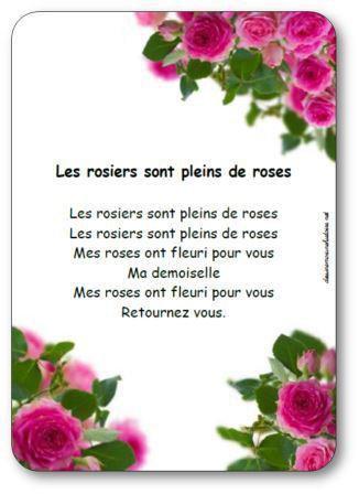 Image de Comptine « Les rosiers sont pleins de roses »