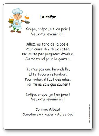 Image de « La crêpe », une comptine de Corinne Albaut