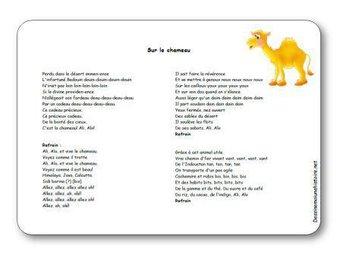 Image de Chanson « Sur le chameau »