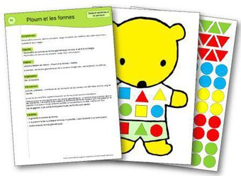 Image de Ploum et les formes : un jeu pour apprendre le nom des formes simples et des couleurs