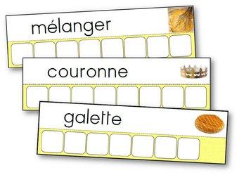 Image de Atelier des mots de la recette de la galette des rois